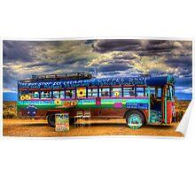 Solar Ice Creme Bus -- Taos, New Mexico Poster