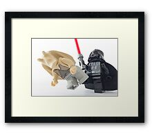 I leave you with the saga for two movies and look what happens? Framed Print