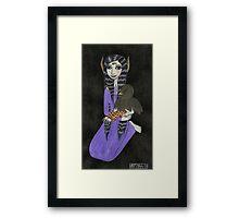 Girl with Baby Bird Framed Print