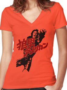 An American Werewolf in Tokyo Women's Fitted V-Neck T-Shirt