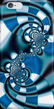 Blue Spirals by Hugh Fathers