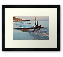 Red Beach at Dusk Framed Print