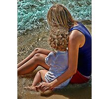 Hug on Beach Photographic Print