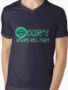 Occupy Green Hill Zone Mens V-Neck T-Shirt