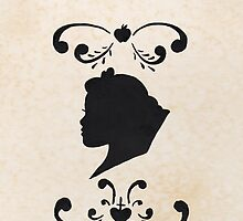 Snow White Ink Silhouette Head by joshda88