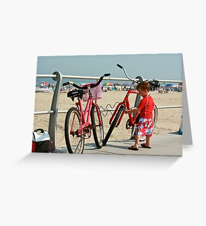 Red Bicycles  Greeting Card