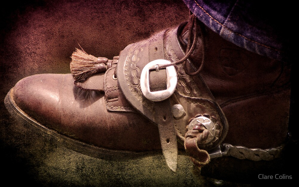 these are cowgirl shoes by Clare Colins