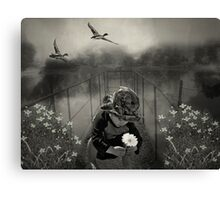 His First Library.... Canvas Print