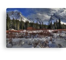 Elbow Pass valley X Canvas Print