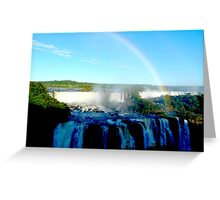 rainbow at Iguassu Falls Greeting Card