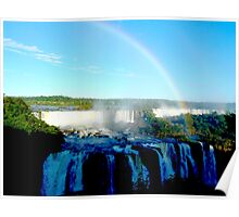 rainbow at Iguassu Falls Poster