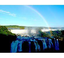 rainbow at Iguassu Falls Photographic Print