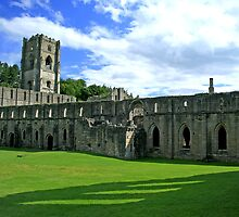 Fountains Abbey, Yorkshire. by hans p olsen