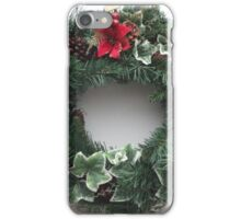 Christmas Door Wreath iPhone Case/Skin