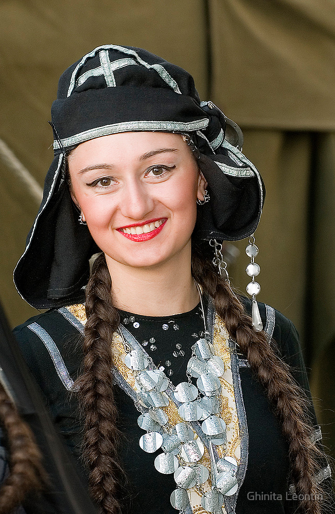 Portrait of georgian girl by Ghinita Leontin