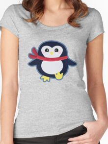 Kawaii Penguin Women's Fitted Scoop T-Shirt