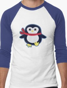 Kawaii Penguin Men's Baseball ¾ T-Shirt