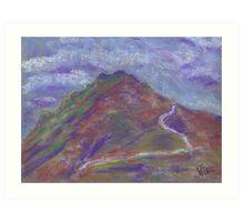 Storm Headed East (pastel) Art Print