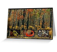 Colourful acts of Nature  Greeting Card