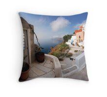 Oia, Santorini  Throw Pillow