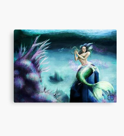 Mermaid in Tranquility Canvas Print