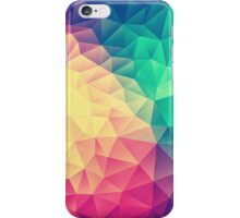 Abstract Polygon Multi Color Cubism Triangle Design iPhone Case/Skin