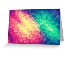Abstract Polygon Multi Color Cubism Low Poly Triangle Design Greeting Card