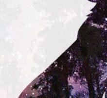 Space Forest Wolf  Sticker