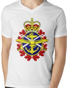 Canadian Forces (CF) Logo Mens V-Neck T-Shirt