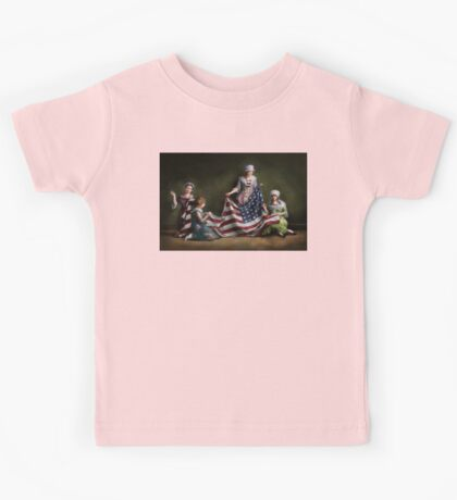 Americana - Flag - Birth of the American Flag 1915 Kids Tee