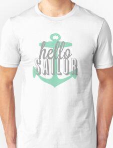 Hello Sailor Anchor Design T-Shirt