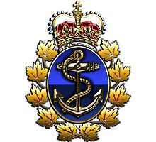 Canadian Forces Naval Operations Logo Photographic Print