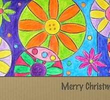 Christmas - 'funky wunky flowers' by hennydesigns