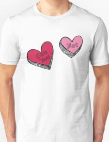 Can You Not Pink Red Hearts Unisex T-Shirt