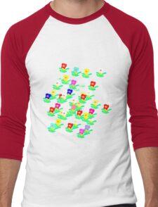 MINI MULTI FLOWERS TEE/BABY GROW Men's Baseball ¾ T-Shirt