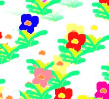 MINI MULTI FLOWERS TEE/BABY GROW Sticker
