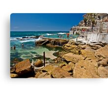 Bronte beach ocean pool Canvas Print
