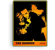 The Damned - Machine Gun Etiquette Flyer Canvas Print