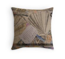BACK OF CANVAS LORD STAG NO: 1 POEM & SHELLS Throw Pillow