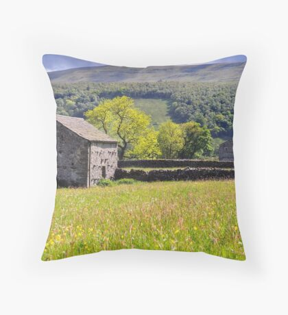 Summer Meadow, Wharfedale - The Yorkshire Dales Throw Pillow