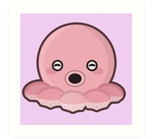Kawaii Octopus Art Print