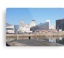 Iconic Liverpool 'Liver Building' Metal Print