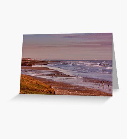 Redcar Beach Greeting Card