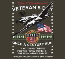 GA MINIAC 11.11.11 11:11:11 Veteran's Day Run Tee by JohnGo