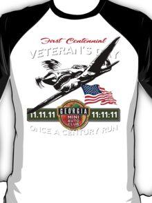 GA MINIAC 11.11.11 11:11:11 Veteran's Day Run Tee T-Shirt