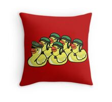 Rubber Ducky War Throw Pillow
