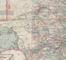 Vintage Map of Texas (1870) Sticker