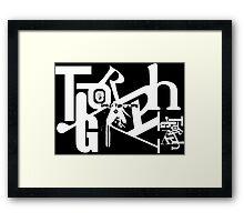 Typography Framed Print