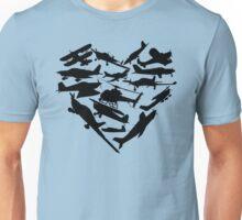 Airplane Heart Unisex T-Shirt