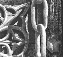 Detail of An Old Door in Venice by Michele Filoscia